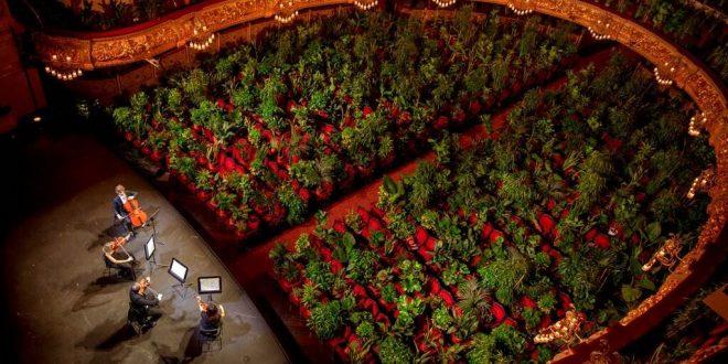 Viral: Η Όπερα της Βαρκελώνης άνοιξε ξανά με παράσταση μπροστά σε 2,292 αληθινά φυτά - Βίντεο