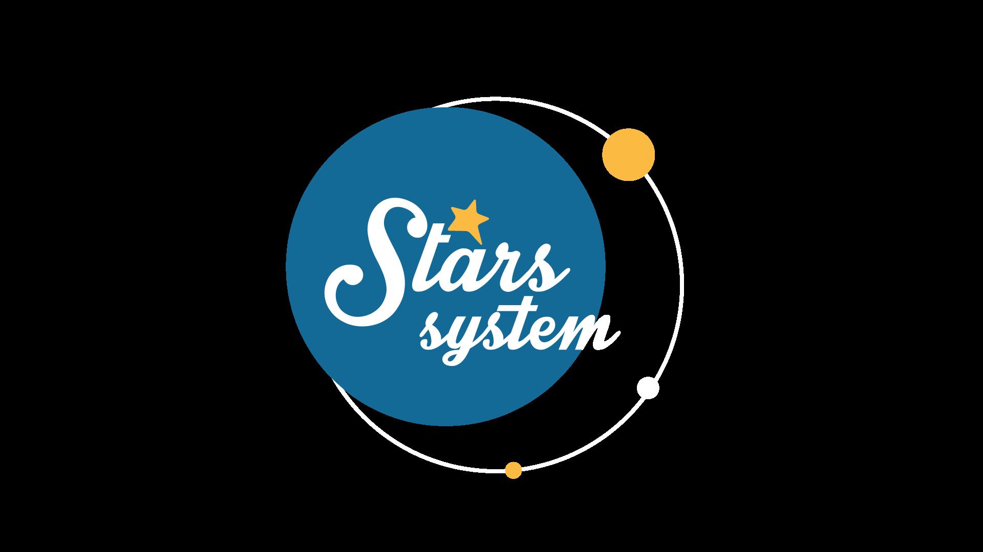 λογότυπο του Stars System Άση Μπήλιου που κάνει πρεμιέρα STAR