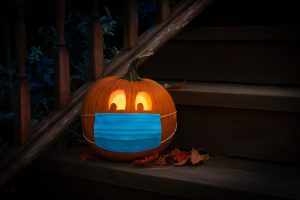 halloween κολοκύθα με μάσκα