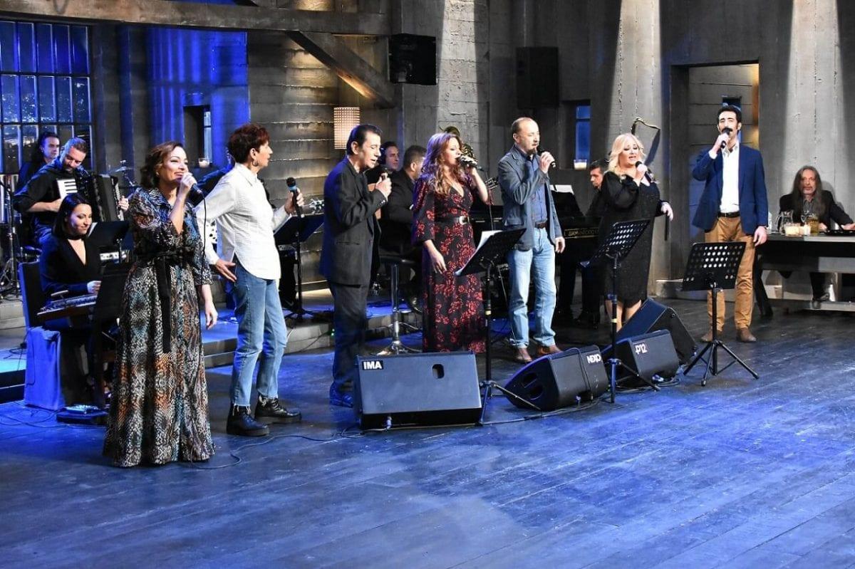 Σκηνή από την μουσική εκπομπή