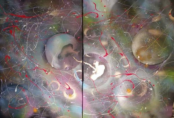 Χουντάλας-Γιώργος70x100cm-x2-Ακρυλικά-σε-καμβά