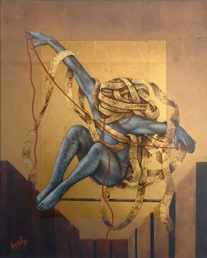 ζωγράφοι έργα καραντίνα - έργο του Πασχάλη Αγγελίδη