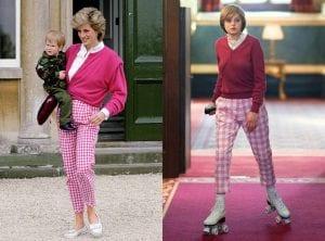 πριγκίπισσα Νταϊάνα πραγματικότητα The Crown καρό ροζ