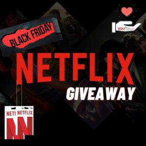 Διαγωνισμός για 4 δωροκάρτες Netflix