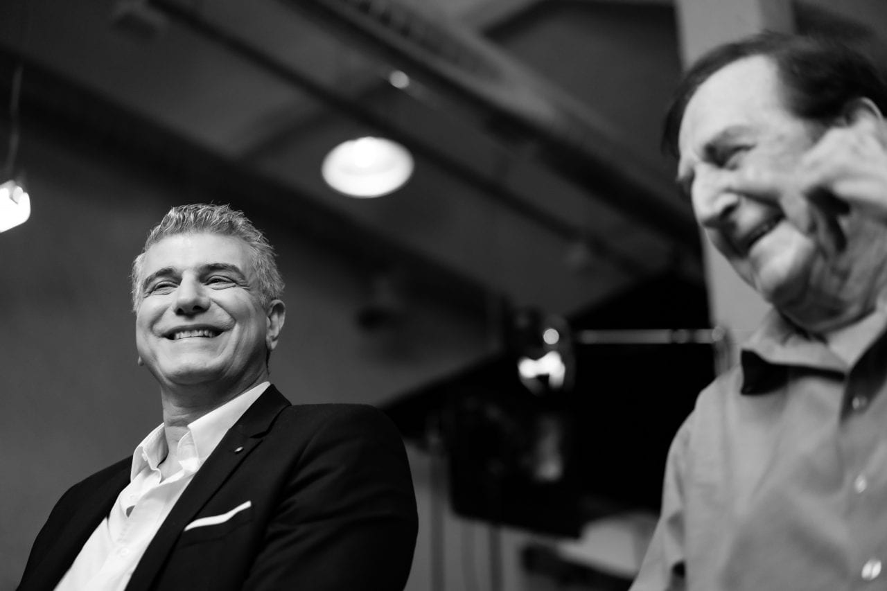 Γιώργος Κωνσταντίνου και Βλαδίμηρος Κυριακίδης σε backstage φωτογραφίες στο Σημείο Συνάντησης