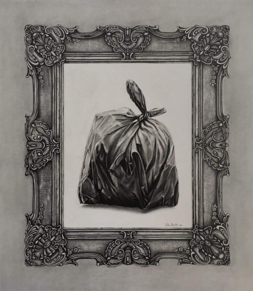 έργα για τη νέα χρονιά - πίνακας με σκουπίδια