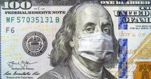Δολάριο με τον franklin να φοράει μάσκα