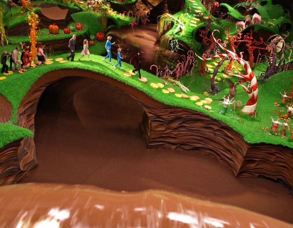 Σκηνή από την ταινία Ο Τσάρλι και το εργοστάσιο σοκολάτας με τον Johny Depp