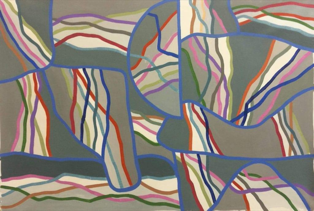 Έντεκα εικαστικοί δημιουργούν για τη νέα χρονιά - πίνακας με χρώματα και γραμμές