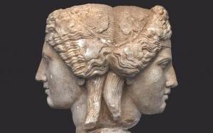 Εικόνα από άγαλμα με δύο όψεις