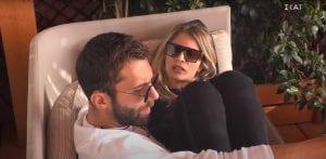 Σοφία και Δημήτρης Κεχαγιάς καναπές - ανασκόπηση στη σχέση τους έως τον τελικό