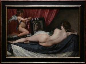 Έργο τέχνης του Velasquez με την Αφροδίτη που κοιτάει τον καθρέφτη της