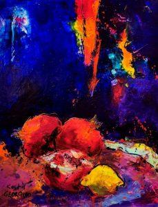 Πίνακας με χρώματα - εικαστικοί δημιουργούν για τη νέα χρονιά