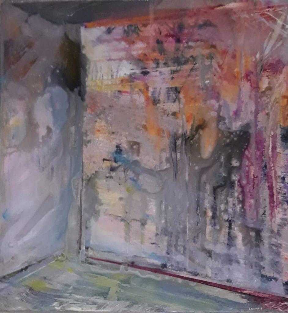 εικαστικοί δημιουργούν για τη νέα χρονιά - τοίχος με χρώματα