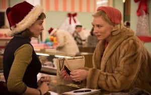 Carol χριστουγεννιάτικες ταινίες για όσους περάσουν τις γιορτές μόνοι - στιγμιότυπο με τις πρωταγωνίστριες στο εμπορικό