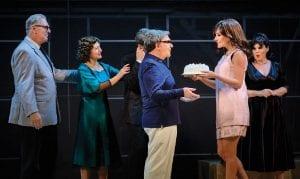 ωνάσης - online παράσταση on demand Θέατρο Παλλάς σκηνή με Ματσούκα και τούρτα