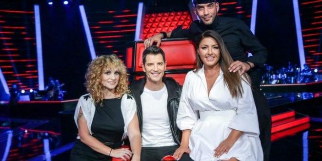 Οι κριτές στο The Voice σε φωτογραφία