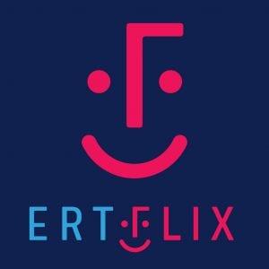 Λογότυπο από το ERTFLIX το οποίο θα παίζει σε οθόνες χωρίς κεραία