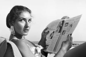 Η Μαρία Κάλλας σε νεαρή ηλικία