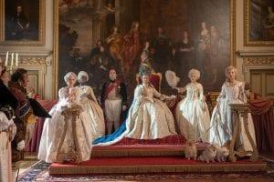 Σκηνή με τη βασίλισσα από το Μπρίτζερτον