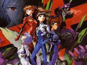 Αφίσα με τους χαρακτήρες από το anime, Neon genesis