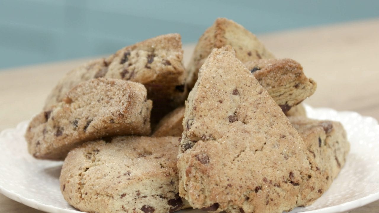 scones με σοκολατα και κρανμπερις