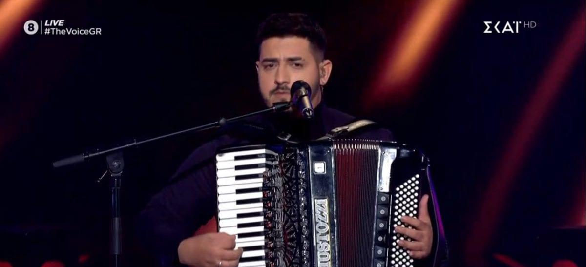 Ο Μερσελίνο Σερίφη, ένας από τους παίκτες που πέρασαν στον ημιτελικό του The Voice