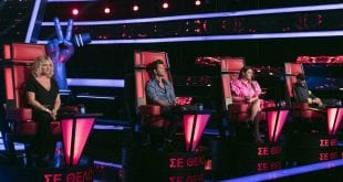 The Voice οι κριτές και η νέα παρουσιάστρια του σόου