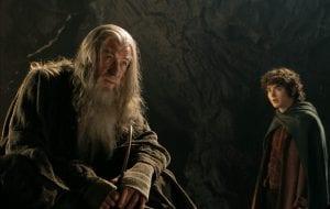 Γκάνταλφ και Φρόντο στο Lord of the rings