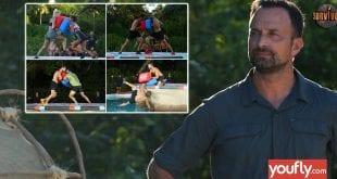 Κολάζ με σκηνές από το Survivor και τον Λιανό
