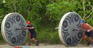 Σε φωτογραφία ο Τριαντάφυλλος και ο Κόρο στο Survivor 12/1