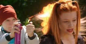 Σκηνή με το φλόγιστρο από την γνωστή ταινία 'Πως να γίνεις κακός'