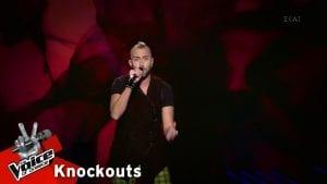 O παίκτης τραγουδάει για το The Voice στην ομάδα Μουζουράκη πριν πάει στο Global Voice