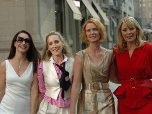 Φωτογραφία από το Sex and the City με τις πρωταγωνίστριες