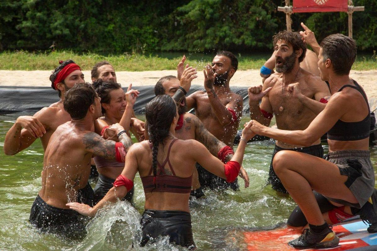 Η κόκκινη ομάδα κέρδισε τον αγώνα ασυλίας του Survivor χθες 8/2