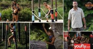 Κολάζ με εικόνες από μοντάζ στο Survivor