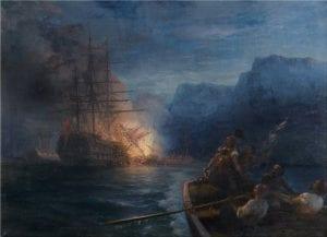 Η-πυρπόληση-της-τουρκικής-ναυαρχίδας-από-τον-Κανάρη