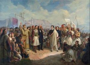 Η υποδοχή του Λόρδου Βύρωνα στο Μεσολόγγι