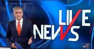 Νίκος Ευαγγελάτος σε αφίσα για την τηλεθέαση του Live News