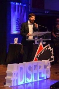 Ο Νικόλας Γιατρομανωλάκης σε ομιλία