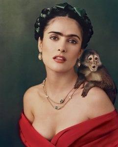 Σε φωτογραφία η ηθοποιός που υποδύεται την Φρίντα Κάλο στην ομώνυμη ταινία