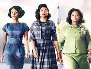 Σκηνή από την ταινία Hidden με τις τρεις πρωταγωνίστριες στην αφίσα
