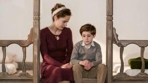 Η Ασημίνα και ο μικρός Σέργιος συζητούν