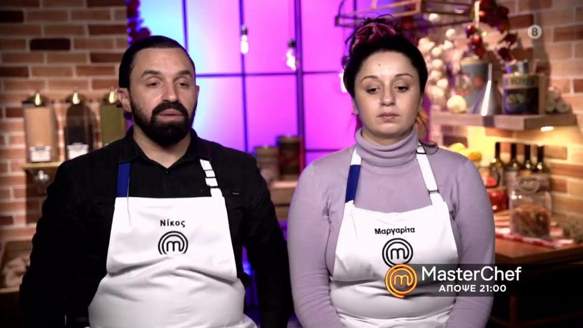 Η Μαργαρίτα και ο Νίκος στο MasterChef