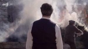 Ο Μιλτιάδης έβαλε φωτιά στα χωράφια χθες 7/4 στο επεισόδιο Άγριες Μέλισσες