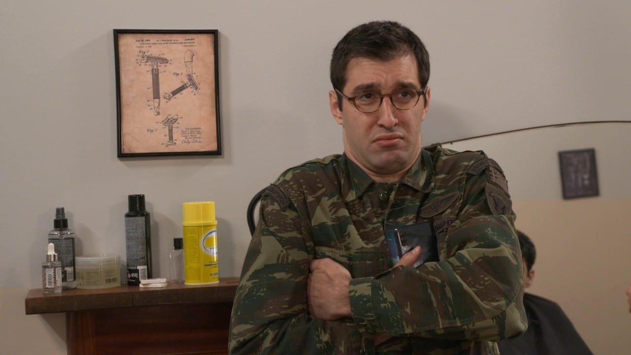 Σκηνή από την κωμική σειρά του ANT1 με τον στρατό
