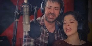Ο Πέτρος Μπουσουλόπουλος και η Δουμπού στο τραγούδι Ρωγμές
