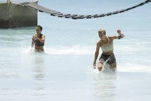 αγώνισμα στο νερό για τους παίκτες