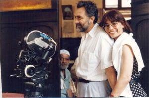ο γιάννης σμαραγδής με την γυναίκα του στην ταινία
