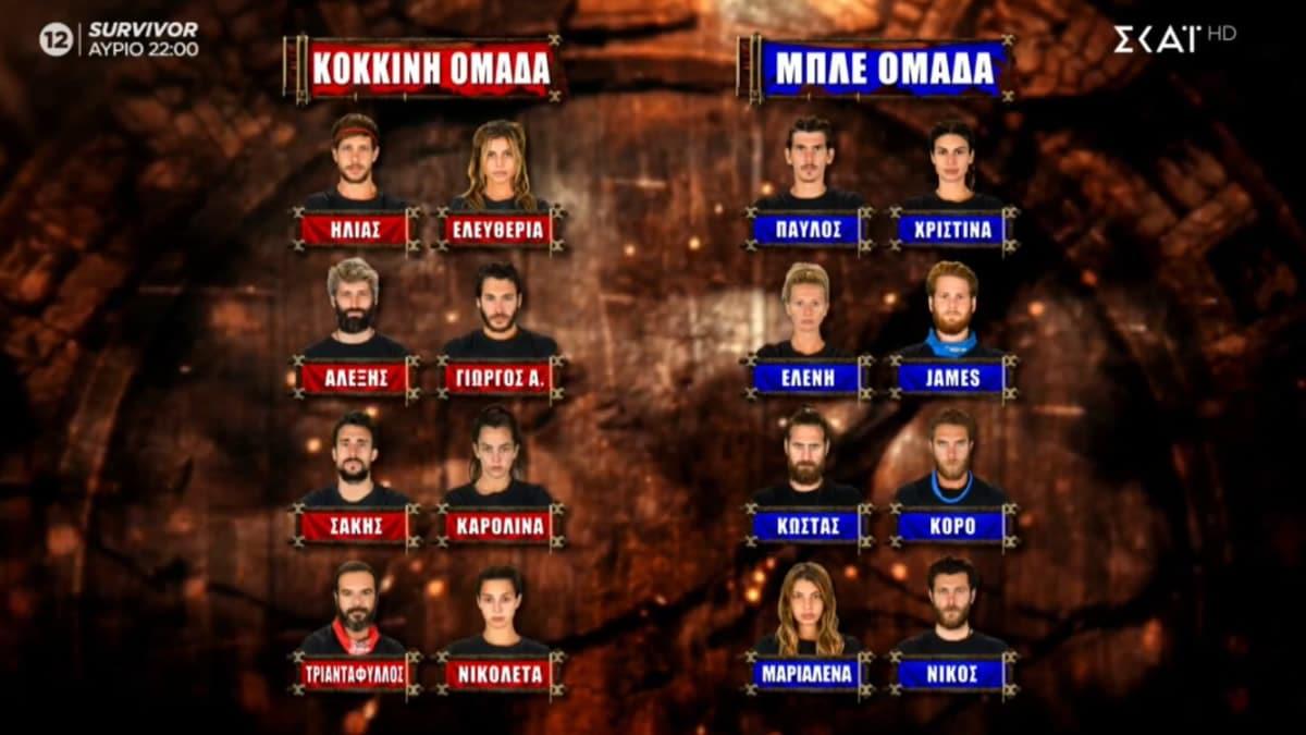 Δείτε ποιες είναι οι νέες ομάδες στο Survivor